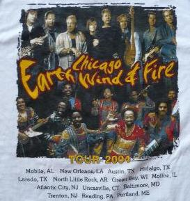 Earth Wind And Fire  S Tour Shirts